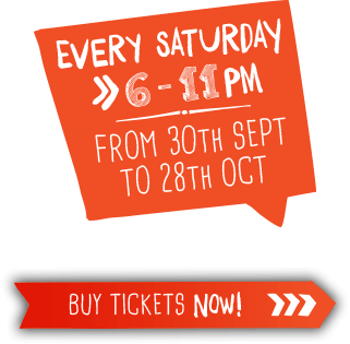 Every Saturday, 6pm till 11pm, from the 30th of September to the 28th of October. Click to buy tickets.