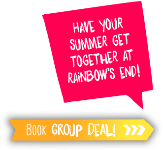 Have your summer get together at Rainbow's End! Book Group Deal!