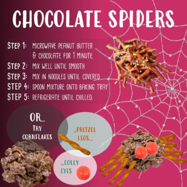 3 Chocolate Spiders