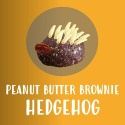 Kidz in the Kitchen: Peanut Butter Brownie Hedgehog