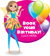 Book Your Birthday Iris the fairy button