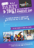 Rainbows End Birthday Invitations Purple Blue Jpg